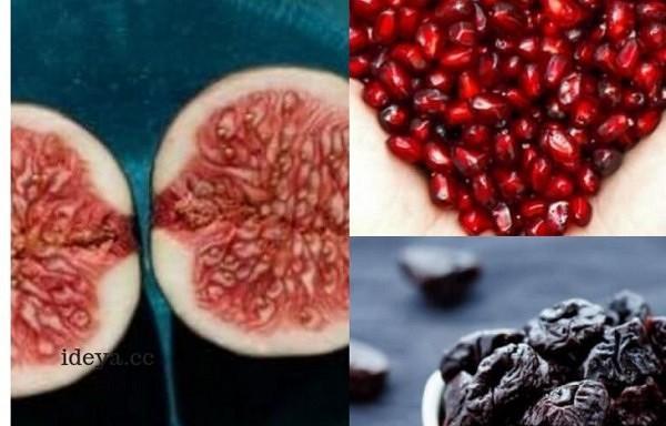 Septiņi ar dzelzi bagāti augļi, anēmijas novēršanai