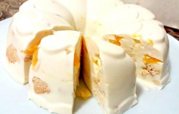"""Torte bez cepšanas """"Sniedziņš"""". Deserts pāris minūtēs"""