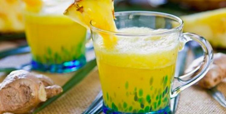Kā pagatavot ananasu – ingvera smūtiju, un atbrīvoties no sāpēm un iekaisumiem