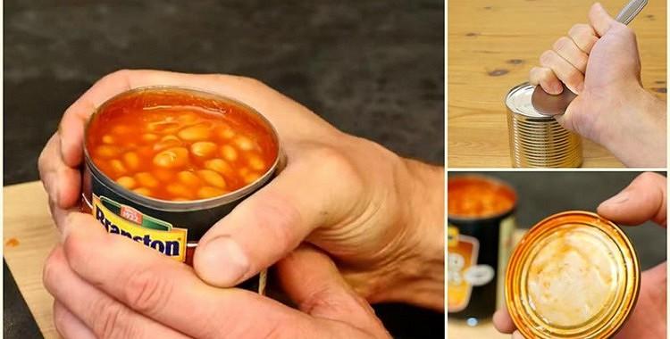 Kā atvērt konservu kārbu bez naža palīdzības? Divas ģeniālas viltības