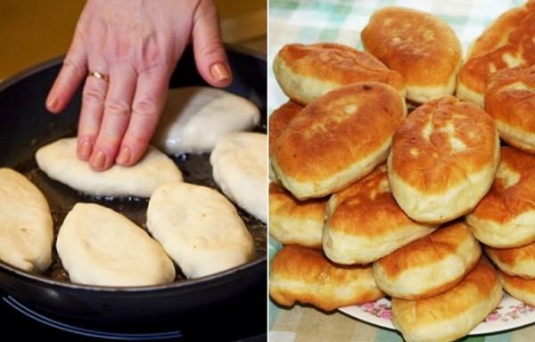 No vienas kefīra pakas vesela kaudze ar garšīgiem pīrādziņiem