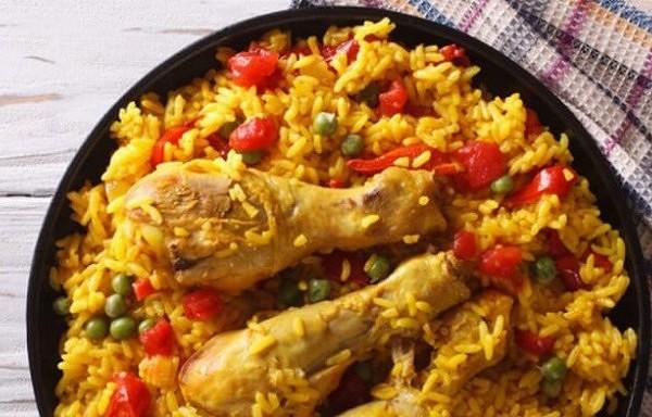 Brīnumgarda vista ar rīsiem kataloniešu gaumē