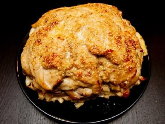 Neticami garšīga, kārtās cepta vistas krūtiņas recepte