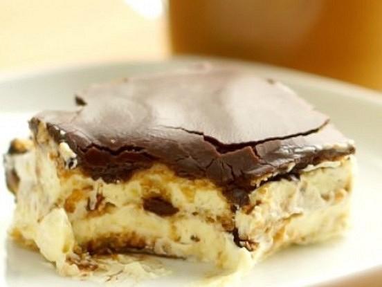 """Ļoti vienkārši pagatavojama torte """"Eklers"""", kura nav jācep"""