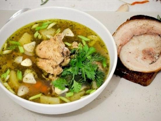 Griķu zupa ar vistas krūtiņu bērniem