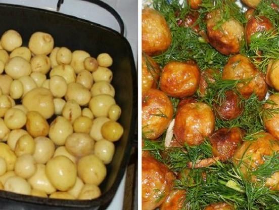 Piecas jauno kartupeļu pagatavošanas receptes