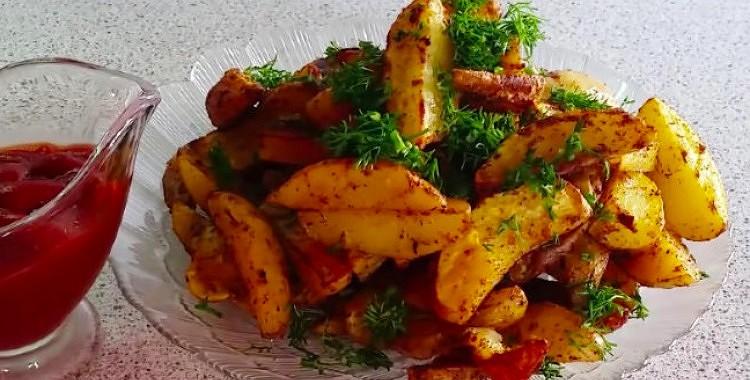 Kartupeļi lauku gaumē, pagatavoti cepeškrāsnī