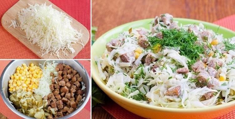 Kāpostu salāti ar grauzdiņiem