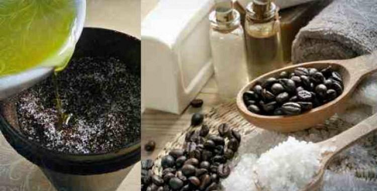 Kafijas skrubis ar sāli visam ķermenim