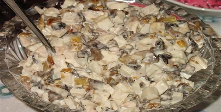 Sēņu salāti ar burkāniem
