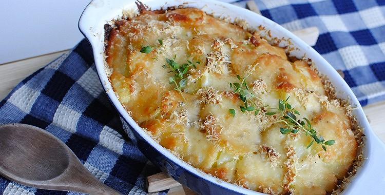Kartupeļu sacepums franču gaumē