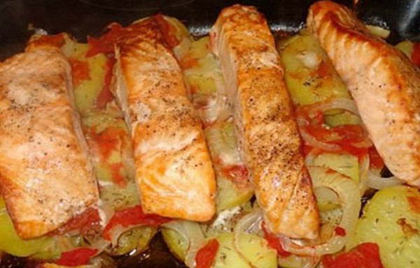Laša cepetis ar kartupeļiem