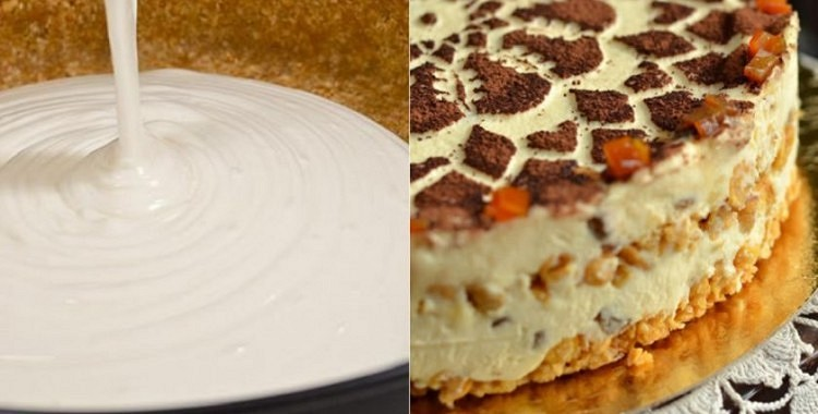 Biezpiena torte bez cepšanas