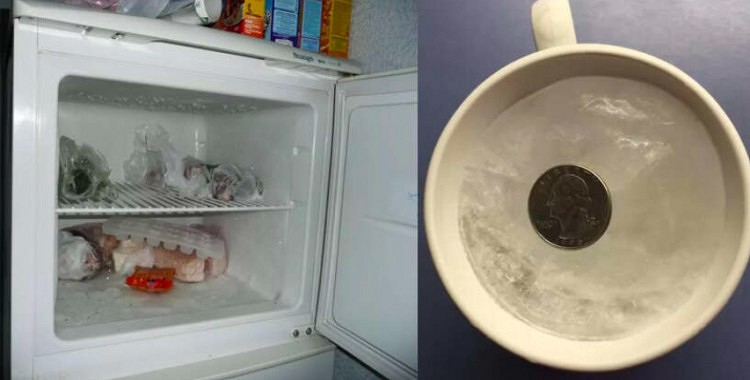 Monēta saldētavā katru reizi, kad braucu ilgāku laiku prom no mājām