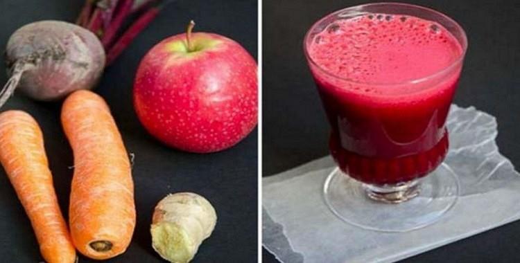 Kas notiek, ja sajaucat bietes ar burkāniem un āboliem. Tikai glāze sulas dienā un…