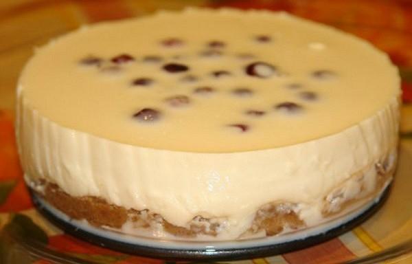 Siera kūka ar kondensēto pienu bez cepšanas