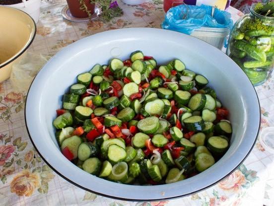 Gurķu salāti ziemai. Bez pasterizēšanas
